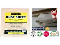 Dust Sheets Heavy Duty Canvass Drop Cloth 12ft x 9ft