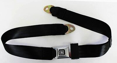 New! Black seat belts GM logo Metal Buckle 60