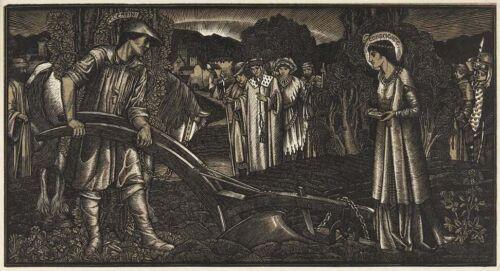 Bernard Sleigh Piers Plowman Birmingham School of Art Pre-Raphaelite Engraving