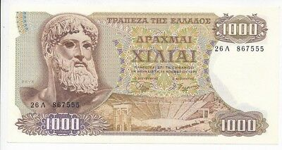 1970 GREECE 1000 DRACHMAS NOTE-CRISP UNCIRCULATED NOTE-SHIPS FREE!
