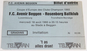 Ticket for collectors CL CL Avenir Beggen Rosenborg Trondheim Luxembourg Norway - Internet, Polska - Ticket for collectors CL CL Avenir Beggen Rosenborg Trondheim Luxembourg Norway - Internet, Polska