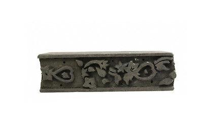 Antique Bunta Stamped Wood Printing Fabric Textile Batik Rajasthan India NP17B5