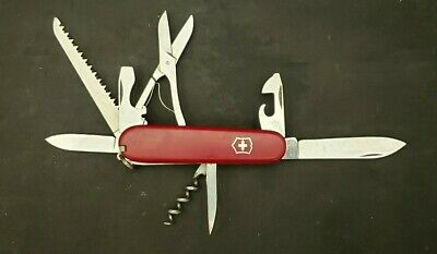 Victorinox Swiss Army Pocket Knife - Red Huntsman - Multi Tool 91mm / No Hook