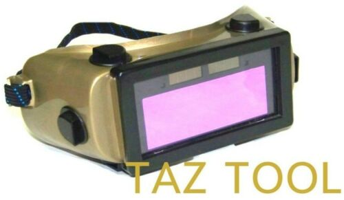 Auto Darkening Cutting Welding Goggles Solar powered Li-ion Rechargeable Battery