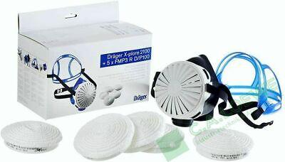 Dräger X-plore 2100 Set + 5 x FMP3 Filter + Halbmaske R55910 Atemmaske Maske