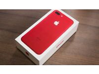 iPhone 7 Plus red 128gb really good condition no contract