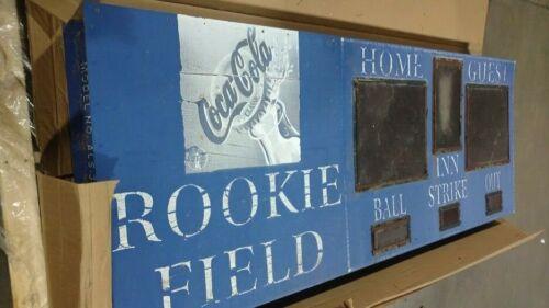 "Ultimate Man Cave Antique Baseball Scoreboard ""Rookie Field"" Vintage Coca Cola"