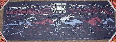 NATHANIEL RATELIFF & nightsweats concert gig poster UK EUROPE 2015 daniel garza