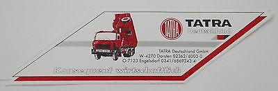 Aufkleber TATRA Deutschland Dorsten LKW Kipper 6x6 Baumaschine 80er Sticker