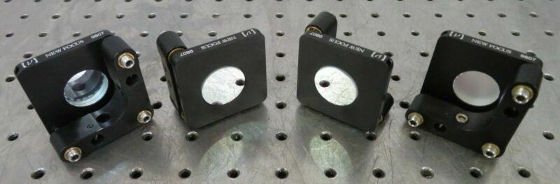 "C175712 Lot 4 New Focus 9807 3-Axis Laser Optical Mirror Mounts for 1"" Optics"
