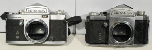 "Two Miranda Camera Bodys.  Miranda Sensomat RE and Miranda ""A"""