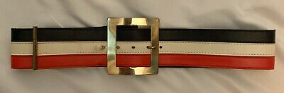 Vintage 1960s Women's Red, White & Blue Vinyl Belt](1960's Women)