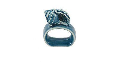 G4737: Serviettenring Muschel aus Keramik für die gedeckte Seafood Tafel