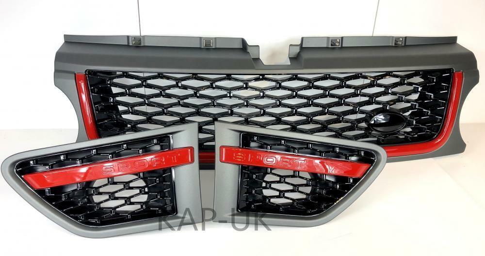 Full Noir Autobiography Style Side Vent Air Grille Range Rover L322 Design Pack