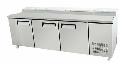 Select Pic3-hc 92 3 Door Pizza Prep Table Refrigerated W Casters Pans