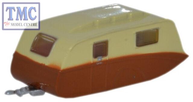 NCV003 Oxford Diecast 1:148 Scale N Gauge Caravan Cream and Brown