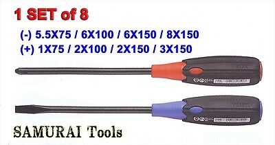 Vessel Super Cusion Grip Screwdriver No.700 Series Set Of 8 Made In Japan