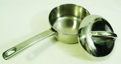 - Le Cook's-Ware Stainless Steel Copper Tri-Ply Base Sauce Saucier Pan with Lid 6