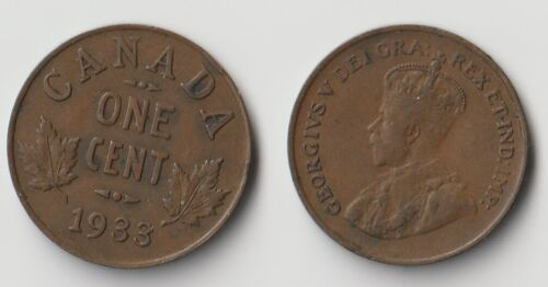 1933 Canada 1 cent coin
