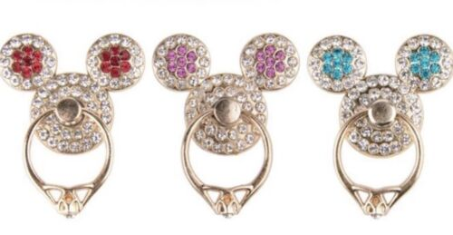 Mickey Mouse Rhinestone Ring Mobile Phone/Tablet Finger Universal Holder Socket - $9.99
