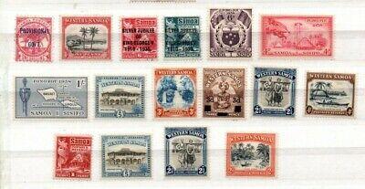 A very nice unused group of Samoa/Western Samoa issues