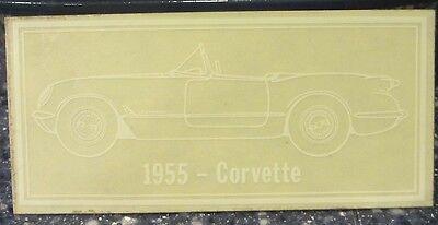 1955 Chevy Corvette Window Decal