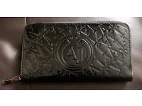 Brandnew Giorgio Armani Ladies Black shiny Purse cheap Emporio girls gift sale wallet clutch new