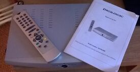 digital set top box vgc with remote and instructions