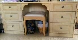 Schrieber dressing table and stool