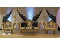 Wedding stage / mehendi stage/ Asian stage / chair covers