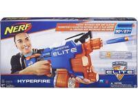 NERF N-Strike Elite HyperFire Blaster Excellent In Condition