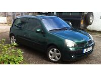 2002 Renault Clio 1.4 16v Dynamique+. £750. ono. Looking to sell or poss swap with something larger.