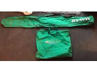 Maver Classic Green Rod Bag Fishing Carry Rod Bag & Net Bag Luggage