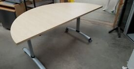 Half Oval Shaped Office Table (With A Tilting Top)
