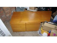 Tapley 33 Teak angled cupboard unit with record plate
