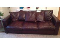 Large (4 seater) Leather Sofa