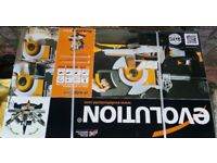 New in packaging Evolution Rage 3DB 255mm Double Bevel Mitre Saw