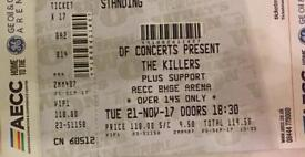 2x Killers VIP tickets for AECC