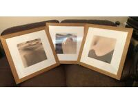 3 x Large Framed Desert Themed Pictures Free Delivery Up To 10 Miles From Ipswich