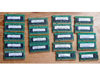19 sticks of PC2 DDR2 512mb SODIMM laptop memory