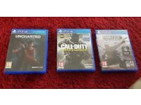 PS4 Game: UNCHARTED LOST LEGACY + Call of Duty Infinite Warface + Homefront