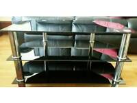 Black glass Tv trolley