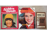 3 Vintage (1973 - 1983) sewing & craft booklets/catalogues. Make Eskimo boots! £4 ovno lot/£1.50 ea