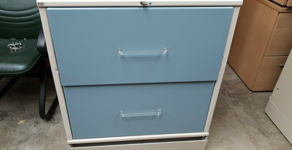 Metal 2 Drawer Lateral Filing Cabinet Key Supplied