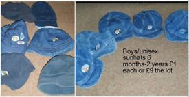 baby/toddler hats £1 each or £9 for all from a smoke and pet free home