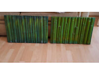TW0 REPTILE BAMBOO TERRARIUM BACKGROUND 58 cm x38 cm used one as a few marks