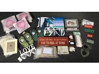 Photo frames, signs and wall art - Job lot - over 40 items