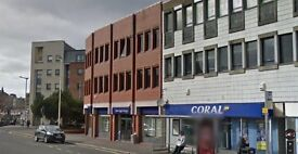 Office space, suitable for variety of uses, second floor, Paisley, across from Abbey & Town Hall