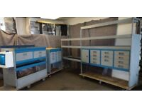 Tevo Van racking, Van shelving, 21 Van Drawers, work tops, Hand Wash T22