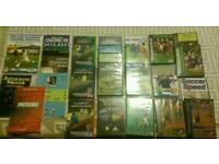 Approximately 22 Football coaching dvd's and 5 books.